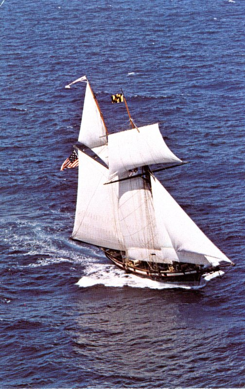 9. Air View of The Pride of Baltimore at Prescott Park Pier 1980_Front.jpg