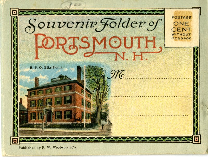 33. Small Souvenir Folder of Portsmouth Images 1_Accordian Style_Front Cover.jpg